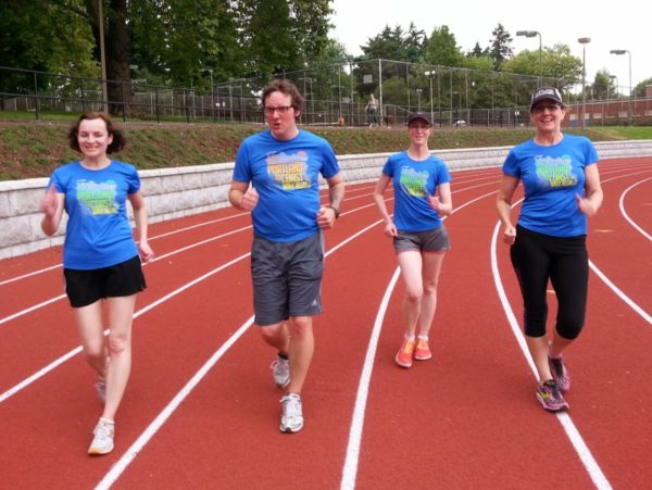 track practice for walkers