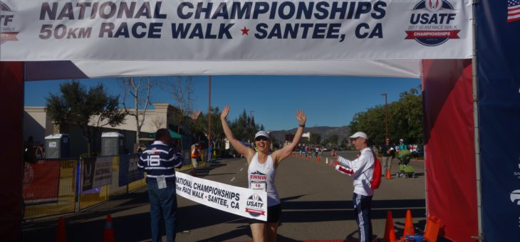 Coach Carmen will race a 50k this Saturday in Santee, California