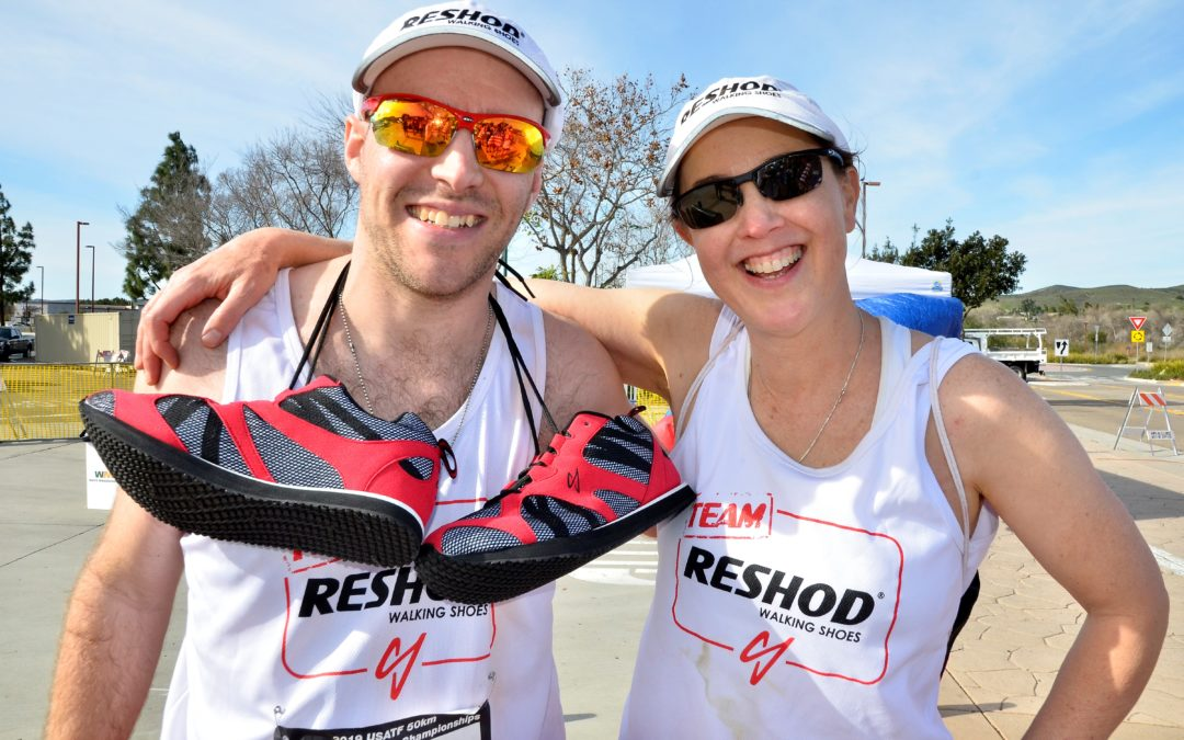 Team Reshod Walking Shoes Finish in the top 3 at the USATF 50k Race Walk Championships