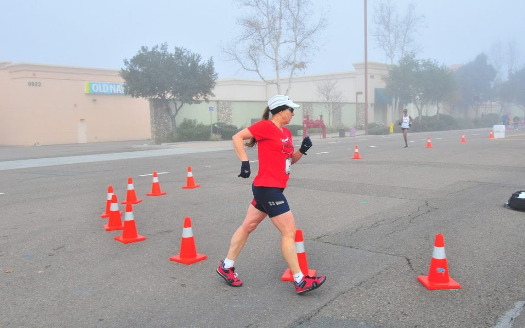 coach Carmen at 50k race walk